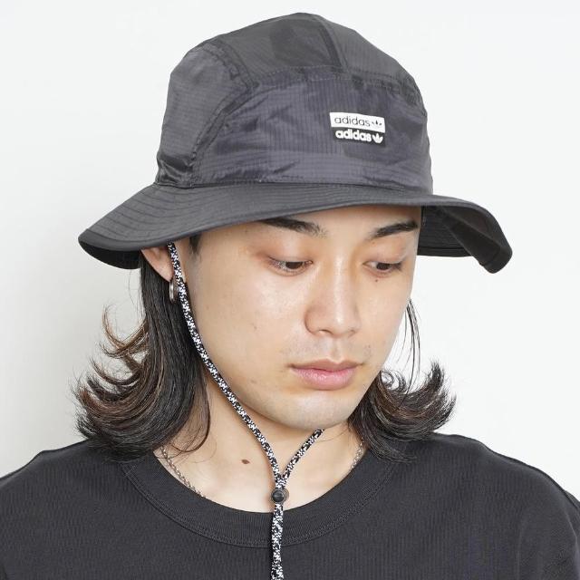 【adidas 愛迪達】漁夫帽 黑 寬帽檐 束帶 休閒 R.Y.V.(GN2276)