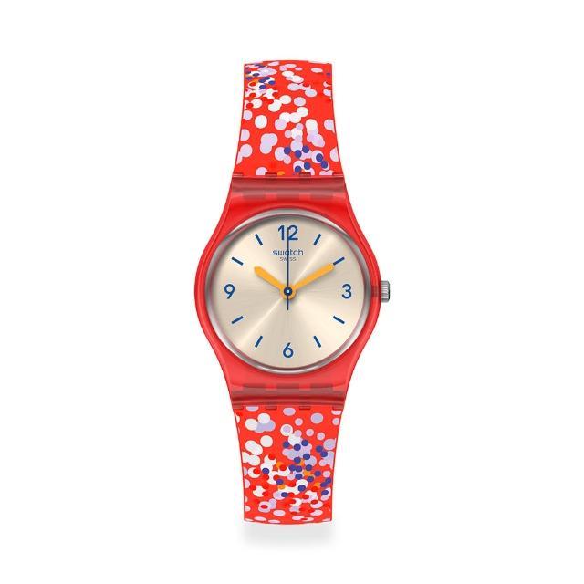 【SWATCH】Lady 原創系列手錶CONFETTINI ROSSI 夏日花園(25mm)