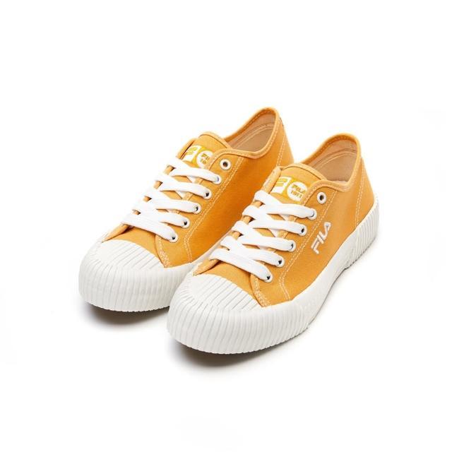 【FILA】休閒鞋 帆布鞋 BISCUIT2 女帆布鞋-黃(5-C316V-911)