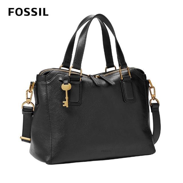 【FOSSIL】Jacqeline 真皮美型波士頓包 -黑色 ZB1501001