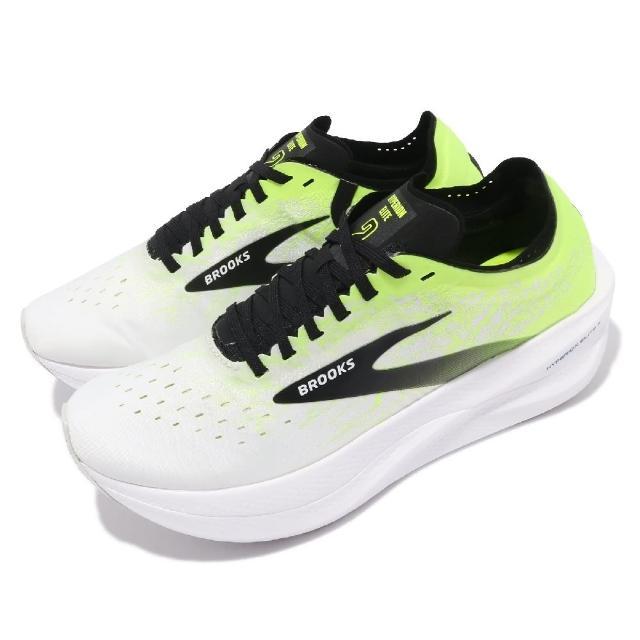 【BROOKS】慢跑鞋 Hyperion Elite 2 男鞋 太陽神菁英2代 碳纖維板 避震 白 黃(1000371D172)