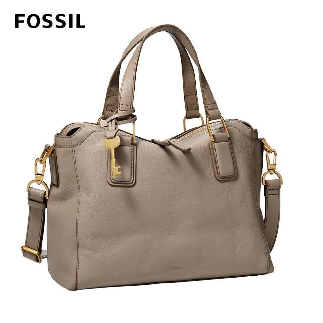 FOSSIL【FOSSIL】Jacqeline 真皮美型波士頓包 -米灰色 ZB1501788