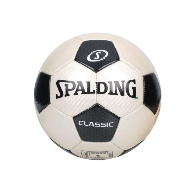 【SPALDING】2.0經典#5號足球-運動 5號球 斯伯丁 米白黑(SPA64919)