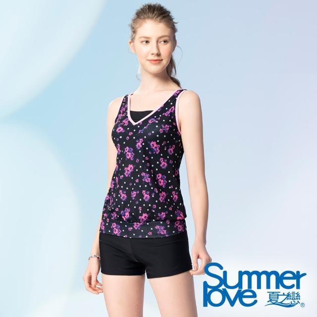 【Summer Love 夏之戀】泳衣 大女長版二件式(S21725)