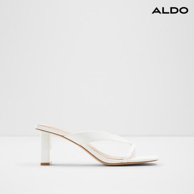 【ALDO】時尚方頭夾趾涼跟鞋-女