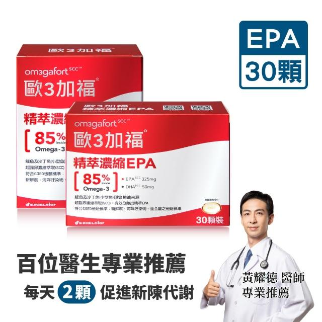 【Om3gafort 歐3加福】精萃濃縮魚油EPA 30顆 2入組(30顆X2)