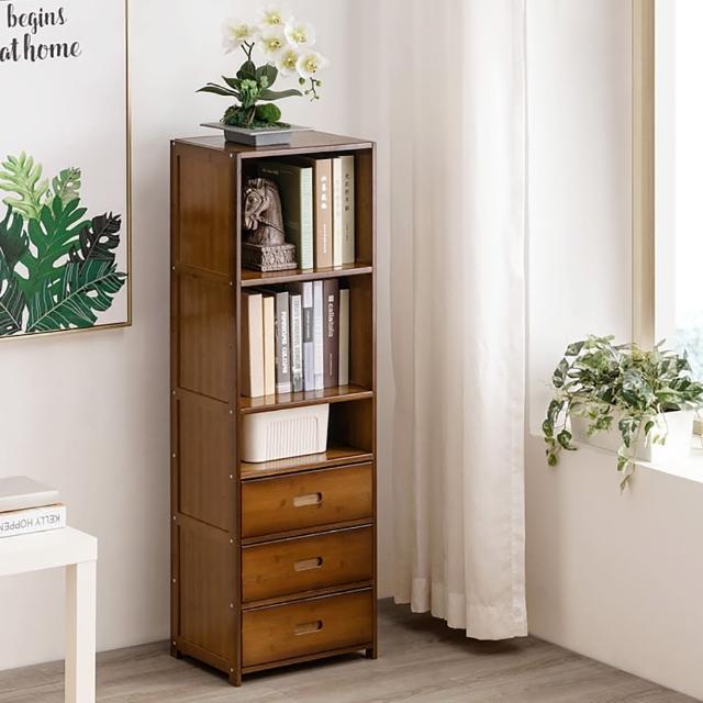 【職人家居】復古三抽屜置物櫃 1063(書架 書房 展示櫃 展示架 屏風櫃 隔間置物櫃)