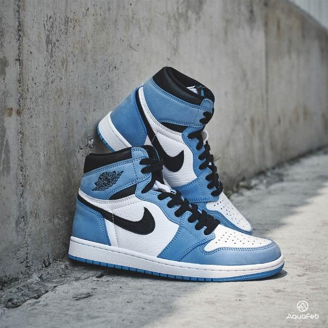 【NIKE 耐吉】Air Jordan 1 University Blue 男 北卡藍 經典 高筒 休閒鞋 555088-134