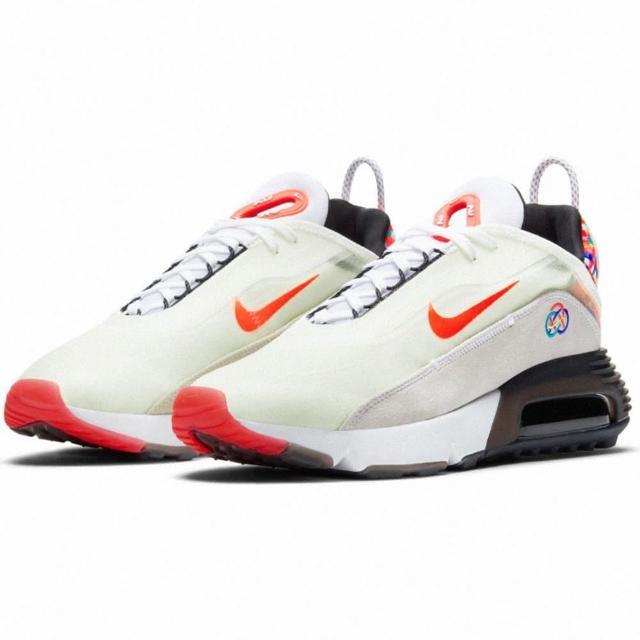 【NIKE 耐吉】慢跑鞋/運動鞋 AIR MAX 2090 男鞋 氣墊 避震 白/橘/黑(DD8487161)