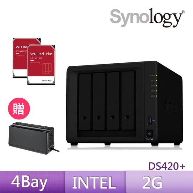 【搭APC 650VA離線式UPS+WD 4TB Plus x2】Synology 群暉科技 DS420+ 網路儲存伺服器