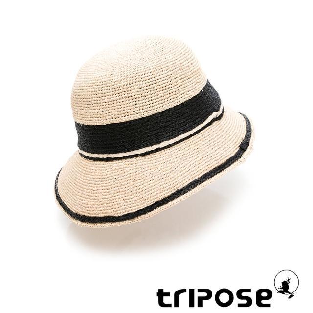 【tripose】GEMMA手工Raffia不對稱拉菲草帽 帽簷8cm(自然色x黑)