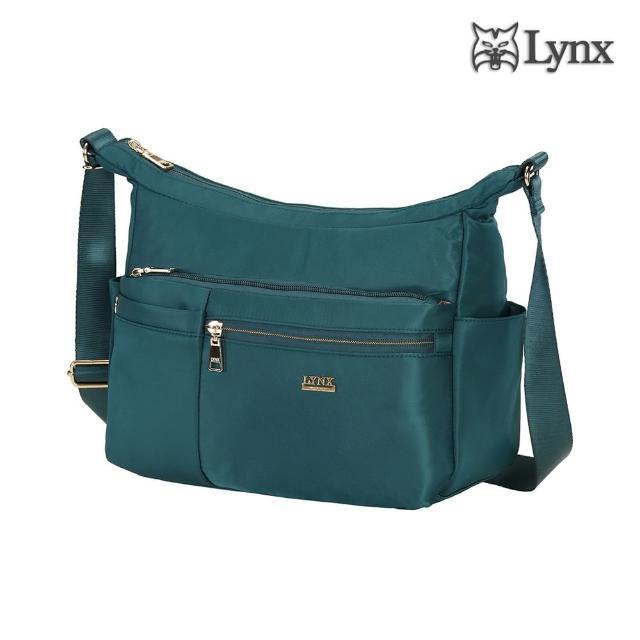Lynx【Lynx】多口袋/多夾層/船型設計側背包/斜背包-湖水綠(輕巧實用、防潑水、防盜刷)