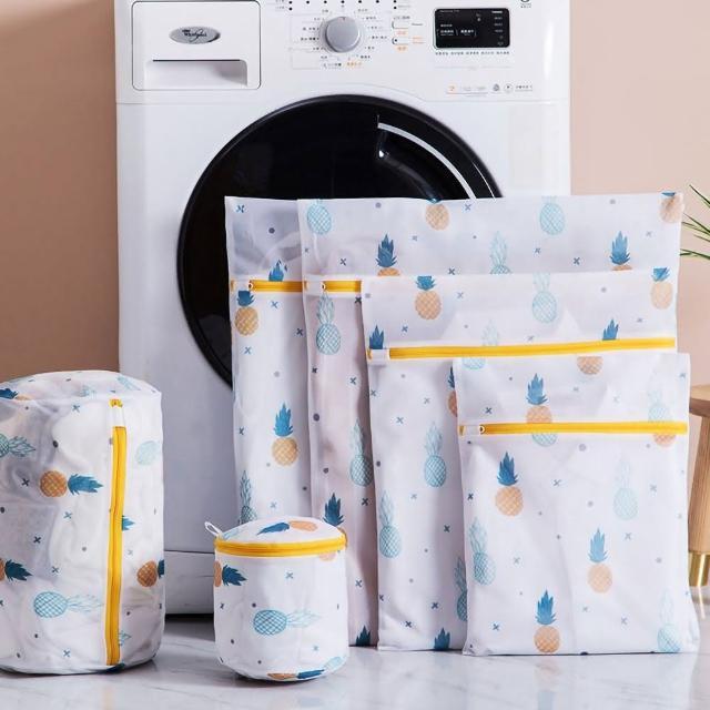 【EZlife】自然印花防纏繞洗衣袋六件套