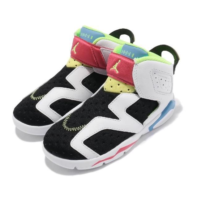 【NIKE 耐吉】休閒鞋 Jordan 6 Retro 童鞋 喬丹 舒適 襪套 六代 小童 穿搭 白 黑(CT4417-103)
