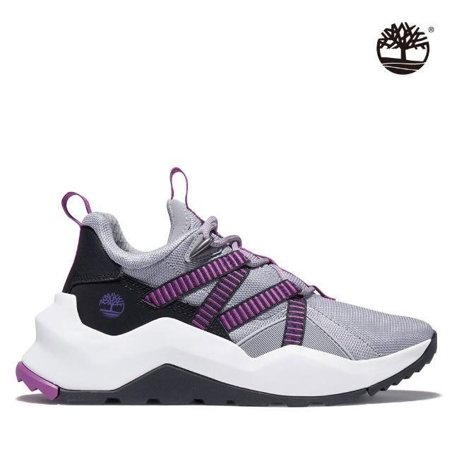 【Timberland】女款中階灰紫Madbury網眼帆布休閒鞋(A2HVC050)