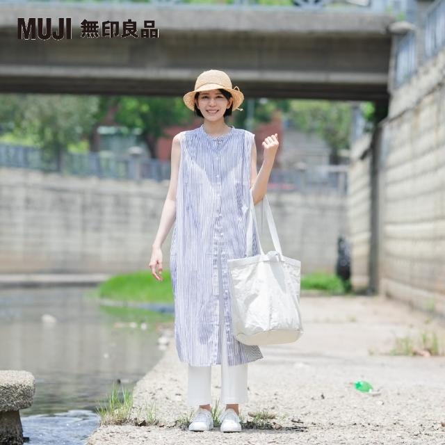 【MUJI 無印良品】女有機棉水洗強撚無袖洋裝(共4色)