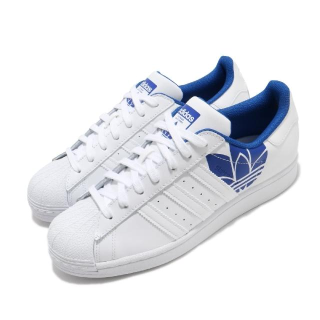 【adidas 愛迪達】休閒鞋 Superstar 復古 低筒 男鞋 愛迪達 三葉草 皮革 貝殼頭 穿搭推薦 白 藍(FY2826)