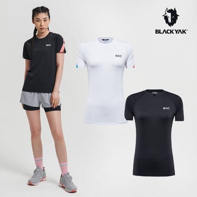 【BLACK YAK】女 BAC GWANAK吸排短袖上衣 [白色/黑色]BYAB1WC502(韓國春夏 短袖 女上衣)
