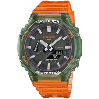 【CASIO 卡西歐】G-SHOCK HIDDEN COAST秘境海岸系列八角雙顯手錶(GA-2100HC-4A)