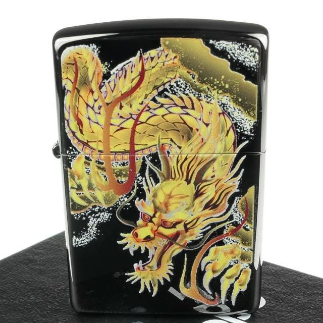 【Zippo】日系~Bright Art-和柄龍圖案彩印加工打火機