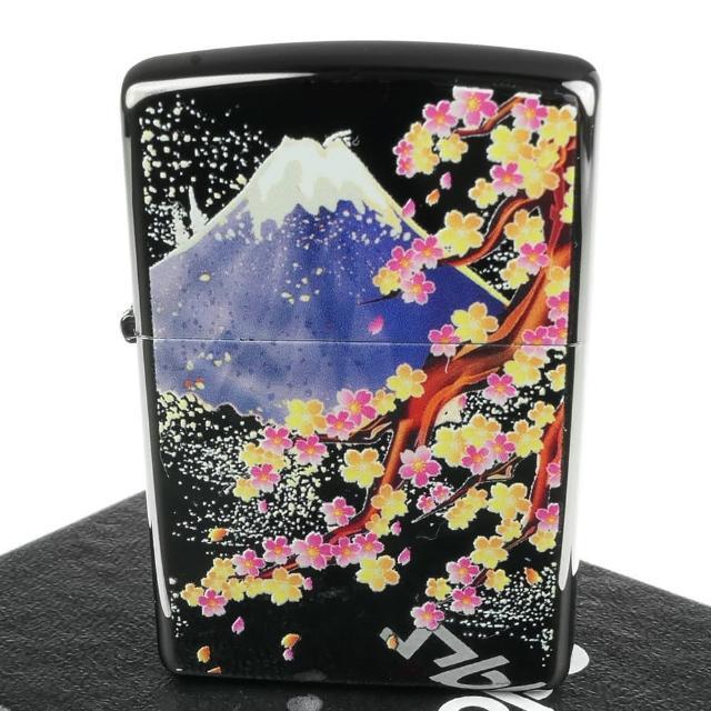 【Zippo】日系~Bright Art-櫻富士圖案彩印加工打火機