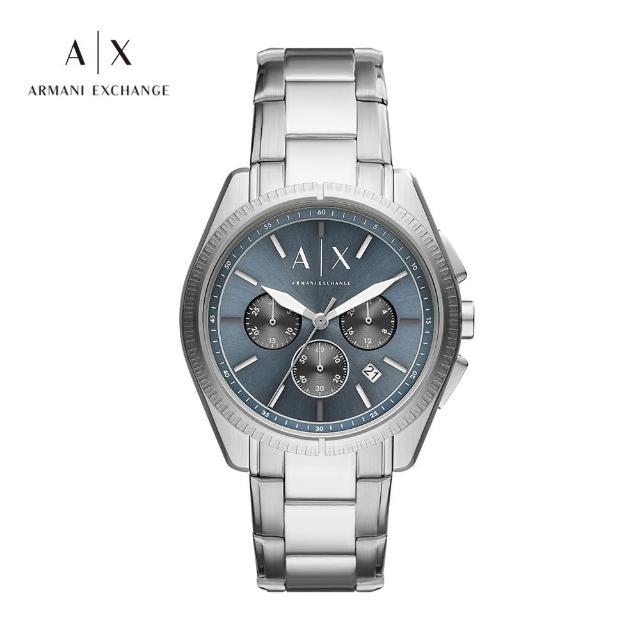 Giacomo 三眼紳士經典手錶 銀色不鏽鋼鍊帶 43MM AX2850