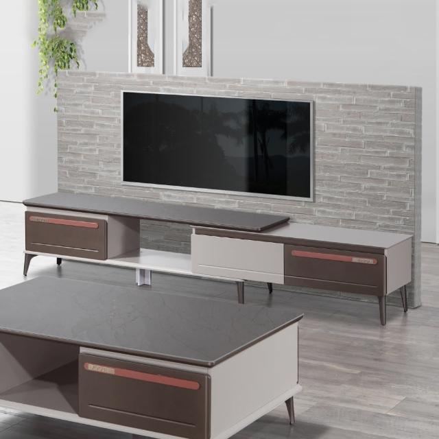 【MUNA 家居】T1716型8尺岩板伸縮電視櫃(長櫃 電視櫃 伸縮 櫥櫃 收納)