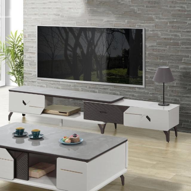 【MUNA 家居】9916型8尺岩板伸縮電視櫃(長櫃 電視櫃 伸縮 櫥櫃 收納)