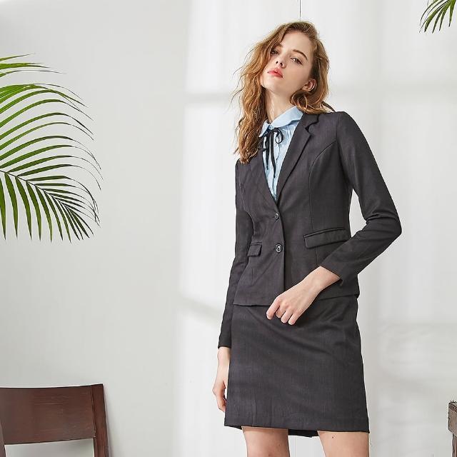 【MASTINA】簡約修身西裝-女長袖外套(黑色/魅力商品/版型適中)