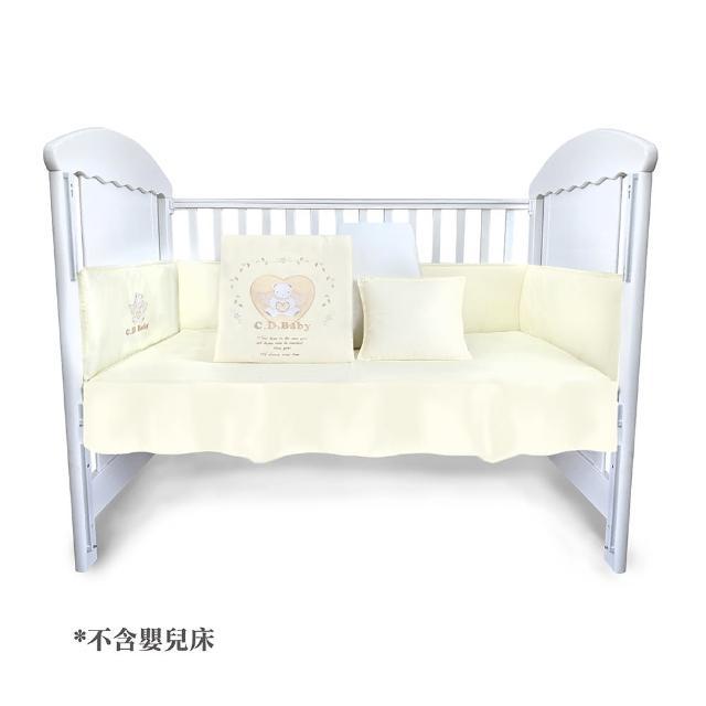 【C.D.BABY】英倫熊寶歐式嬰兒寢具5件組(內含被套、被胎、枕頭、床圍、床罩)
