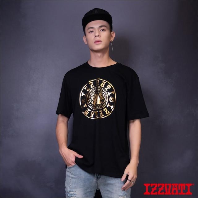 【IZZVATI】燙金logo短T-黑/白(品牌經典LOGO款)