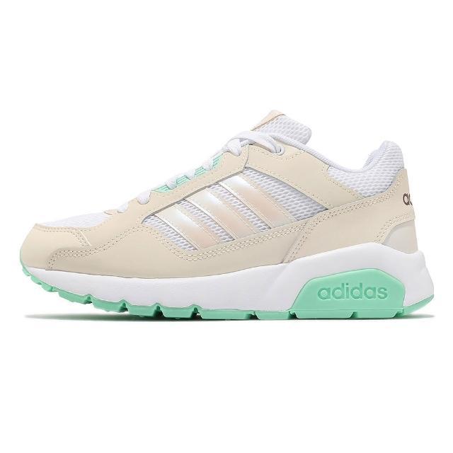 【adidas 愛迪達】Run9tis 運動 女鞋 愛迪達 舒適 避震 球鞋 穿搭 簡約 米白 白 休閒鞋(FZ1715)