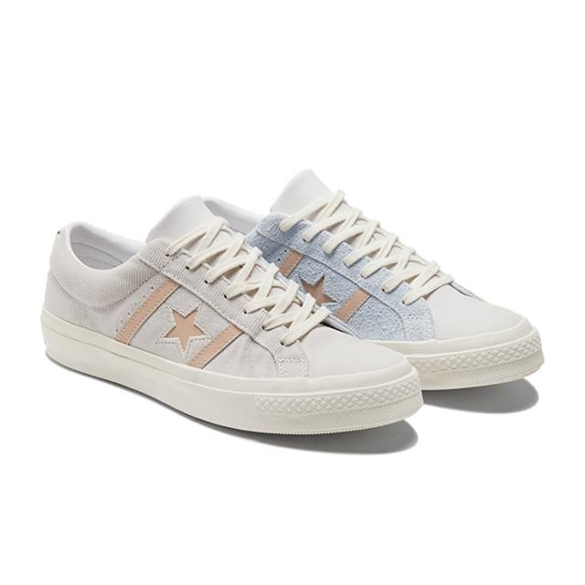 【CONVERSE】ONE STAR ACADEMY OX 低筒 休閒鞋 麂皮 拼接 男 米白藍(170571C)