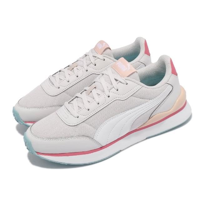 【PUMA】休閒鞋 R78 FUTR Decon 女鞋 基本款 網布 透氣 復古 穿搭 灰 粉(37489608)
