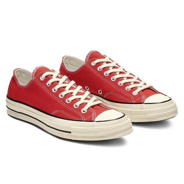 【CONVERSE】CHUCK 70 OX 低筒 休閒鞋 男女 帆布鞋 紅色(164949C)