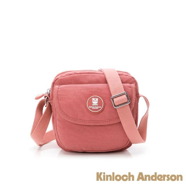 【Kinloch Anderson】FRANCIS 翻蓋小款斜側包(桃紅色)