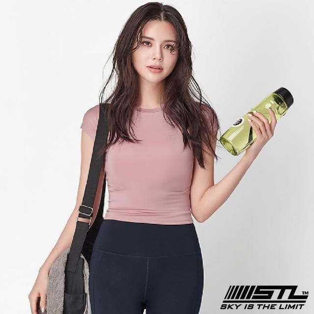 【STL】yoga 本質伸展短版 Essence Volume Crop 韓國瑜伽 運動機能合身短袖上衣(霧霾粉MistyPink)