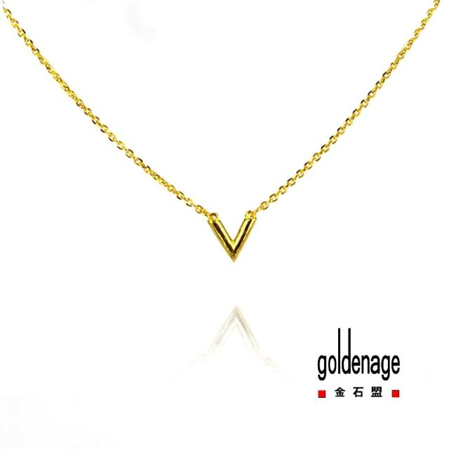【金石盟】愛情黃金項鍊0.75錢±0.02錢(9999純金製造)