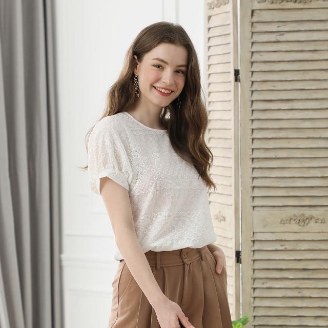 YASA慕夏100%純棉瑞士刺繡涼感上衣3+1