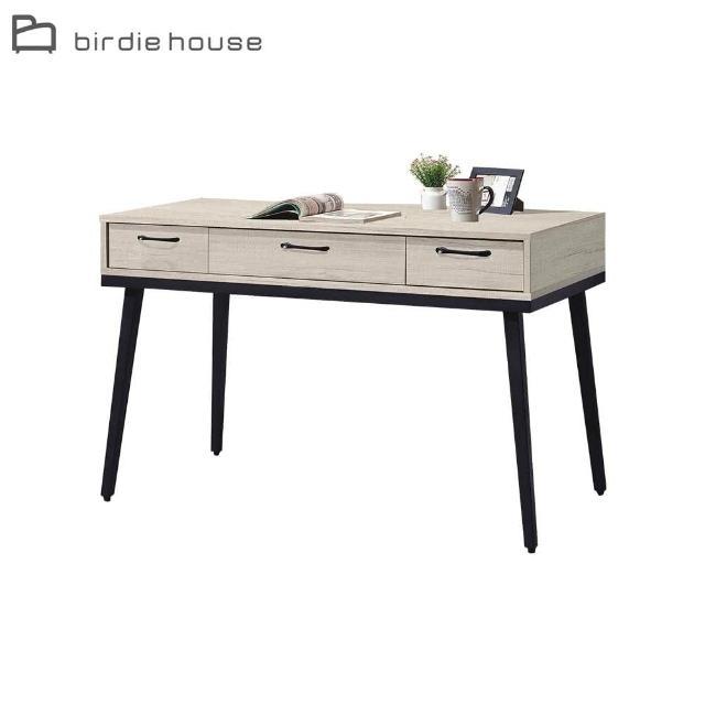 【柏蒂家居】伊萊恩4尺簡約白橡色書桌/工作桌
