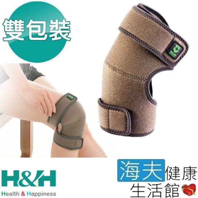 【海夫健康生活館】南良H&H 遠紅外線 調整型 護膝 雙包裝(51X23X0.5cm)