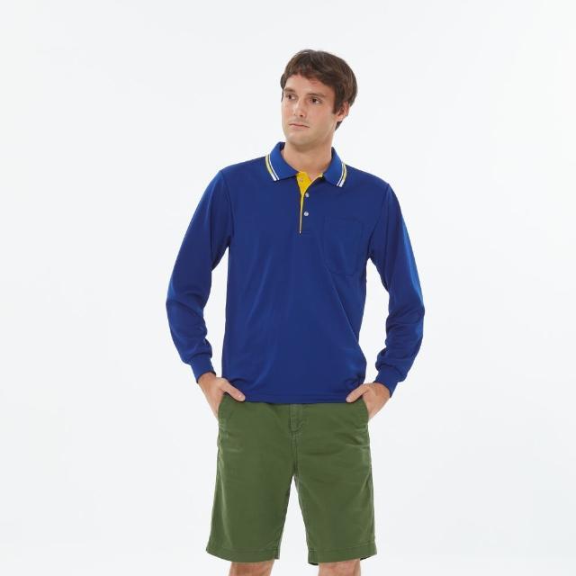 【PAUL SAILING】素色簡約吸濕排汗長袖POLO衫(三色)