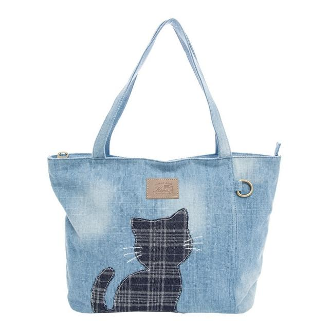 【KIRO 貓】牛仔布 大容量 手提袋/肩背包/托特包(25003801)