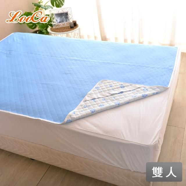 【LooCa】涼感可水洗保潔墊(雙人-2色任選)