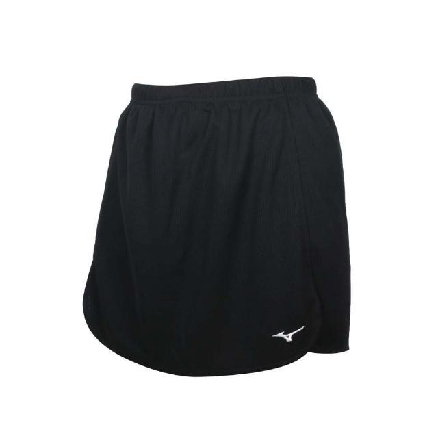 【MIZUNO 美津濃】女羽球短裙-台灣製 褲裙 吸濕排汗 抗UV 羽毛球 美津濃 黑白(72TB1C0109)