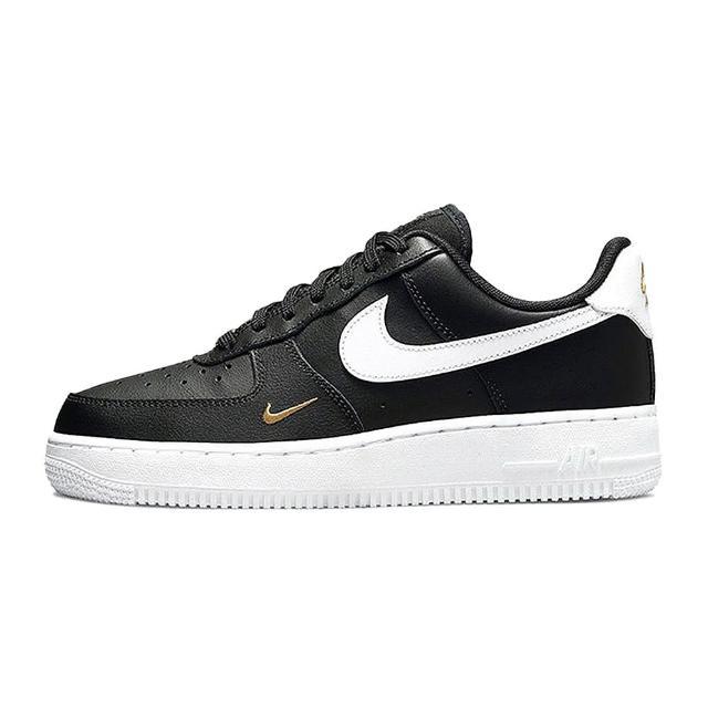 【NIKE 耐吉】Air Force 1 Low 黑白 白勾 金勾 迷你鉤 女款 板鞋(CZ0270001)