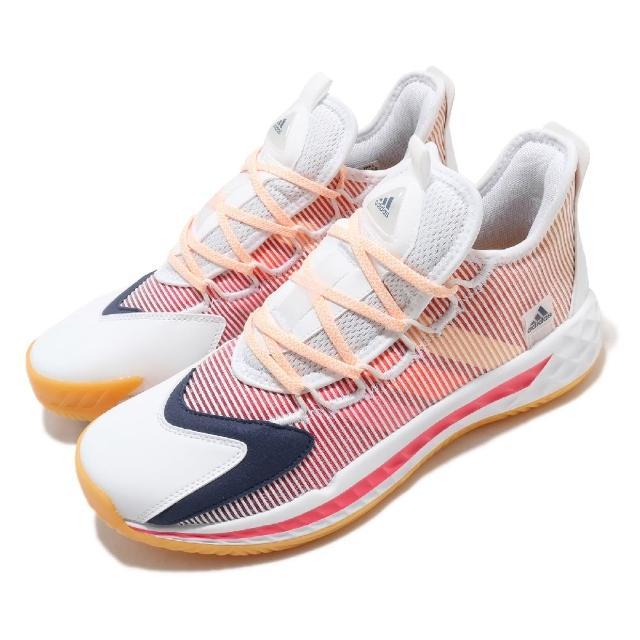 【adidas 愛迪達】籃球鞋 Pro BOOST GCA Low 男鞋 愛迪達 低筒 緩震 運動 透氣 白 紅 藍(FX9239)