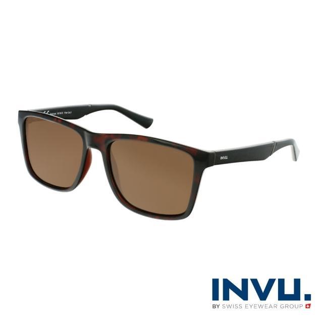 【INVU】來自瑞士品牌經典偏光太陽眼鏡(紅琥珀 B2106B)