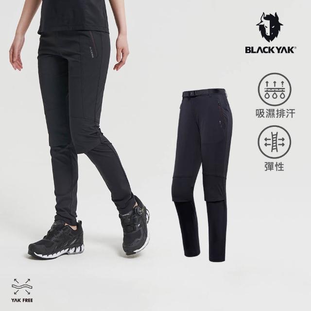 【BLACK YAK】女 BUFF合身長褲[黑色]BYAB1WP210(韓國春夏 運動長褲 女長褲)