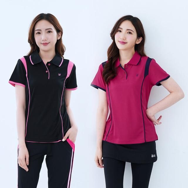 【遊遍天下】MIT女款顯瘦抗UV吸濕排汗機能POLO衫GS1010紫紅(M-3L)